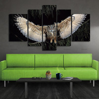 5 Piece Wall Art Painting Wings Owl Pictures Prints On Canvas Animal The Picture Decor Oil For Home Modern Decoration Print