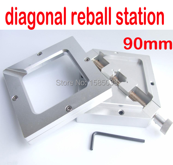 80mm X 80mm BGA Reballing Solder Rework Station Diagonal Stencil Holder BGA Jig