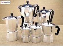 1 stück Aluminium moka topf Bialetti stil 1-12 tassen espresso kaffeemaschine topf für gasherd cookern für barista