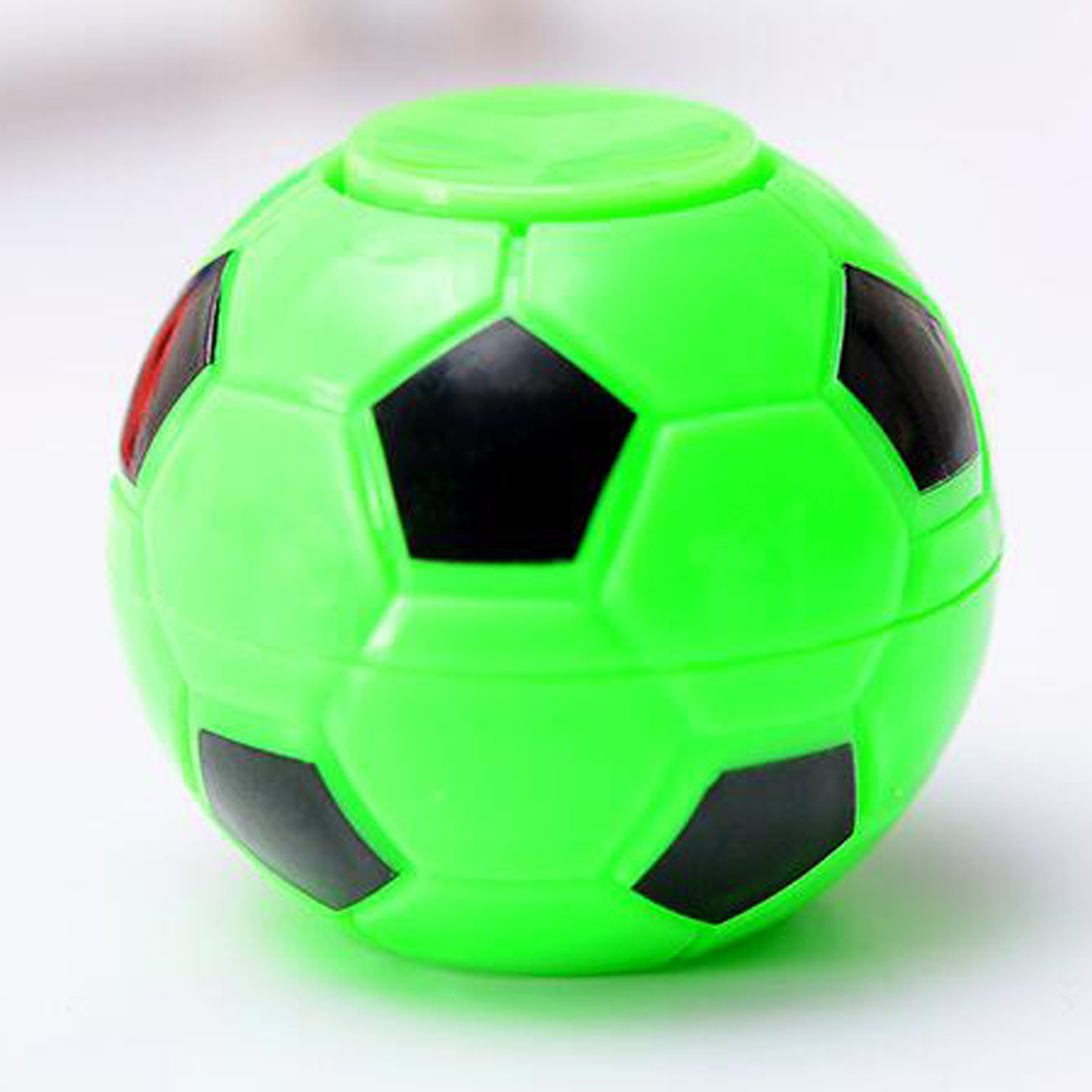 2019 50mm D Fidget Football Fingertips Finger Gyro Spinner Stress Relief Toys Footballs Top Game Gifts For Children Christmas