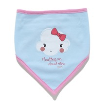 Infant Apron Baby Bibs for babies newborn Cotton Triangle 2 layer print bib For Boys Girls 0-2 years feeding Accessories