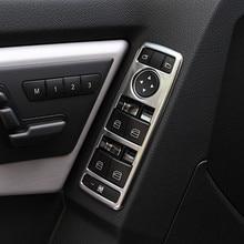 Chrome окна лифт переключатель Панель Накладка для Mercedes Benz E Class W212 2010-2015 укладки интерьер автомобиля аксессуар