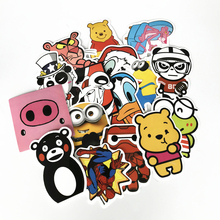 TD ZW 60Pcs/Lot Cartoon Stickers Decal For Snowboard Laptop Luggage Car Fridge Car- Styling Sticker Pegatina
