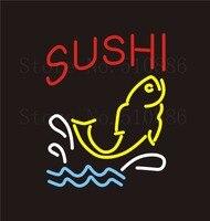NEON Sign SUSHI Real GLASS Tube Bar Food Japan Japanese Cuisine PUB Restaurant Signboard Display Store
