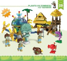 سلسلة عسكرية خارقة سلسلة النباتات مقابل الكسالى صغيرة المسوخ عمل أرقام لعب للأطفال هدايا متوافقة Lepining