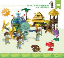 군사 시리즈 슈퍼 히어로 시리즈 식물 대 좀비 미니 돌연변이 액션 피규어 어린이를위한 장난감 선물 호환 Lepining