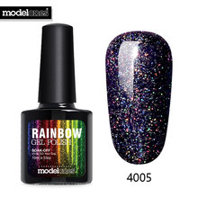 Modelones 10ML Shimmer Neon UV Nail Varnishes Led Lamp Vernis Semi Permanent UV Nail Gel Polish Nail Art Beauty Rainbow Nail Gel