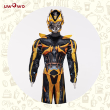 Bumblebee Boys Kids Costume Cosplay Superhero Jumpsuits Kids Costume  Halloween Costumes Carnival Cosplay Party Cosplay Suits m xl free shipping children s halloween costumes harry potter costume boys magician costume kids cosplay