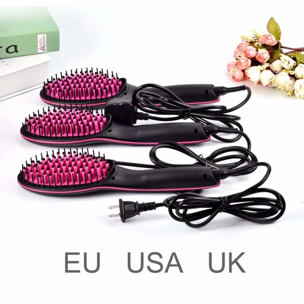 Professional LCD Display Fast Hair Straightener Comb No Harm Hair Electric Smooth Hair Straight massage Brush for Hair Styling do no harm