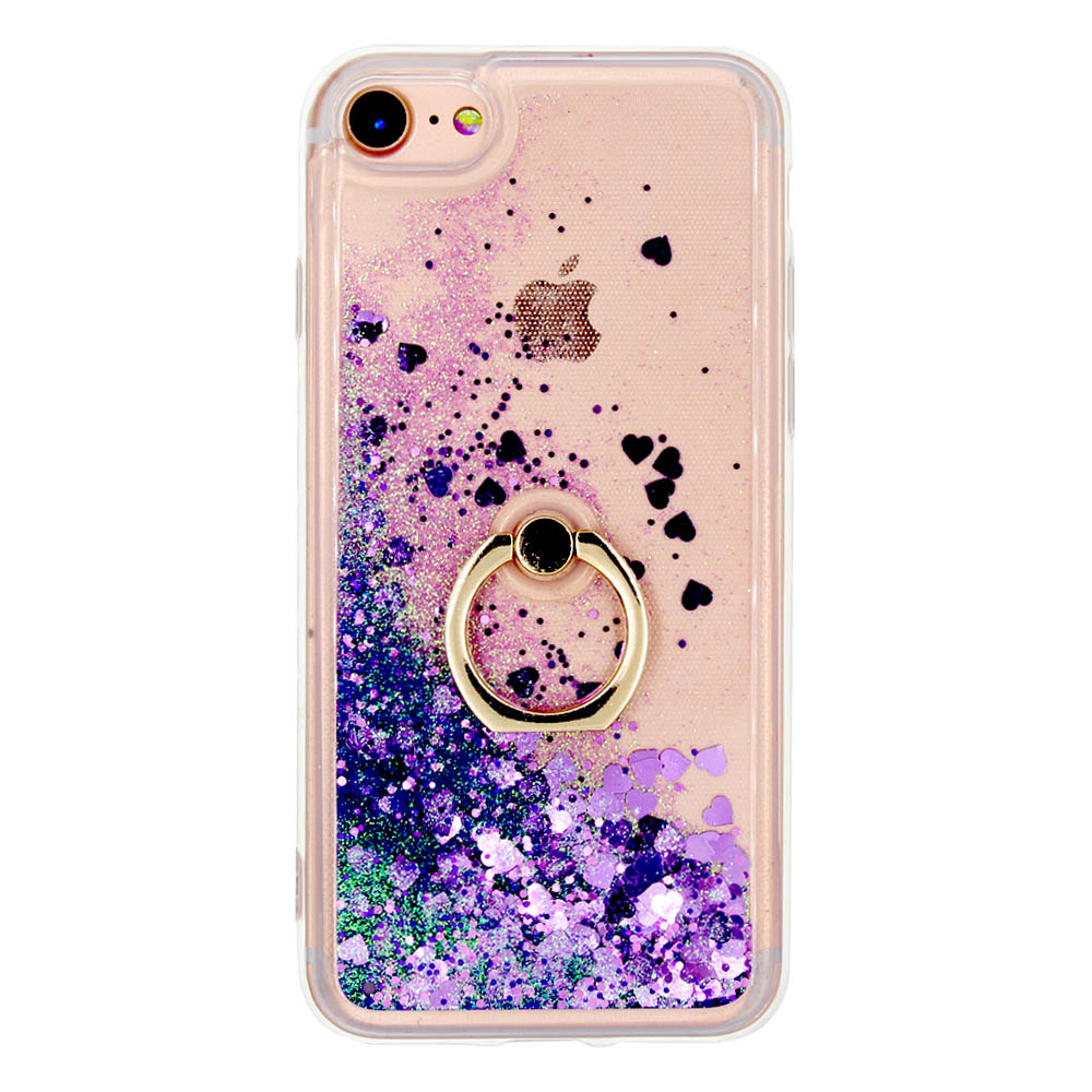 JFWEN For iPhone 8 Case Luxury Liquid Glitter Silicone TPU Transparent Stent Phone Cases For iPhone 8 7 6 6S Plus Case Cover Bac