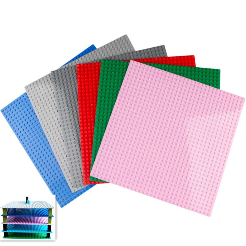 7 Colors 32*32 Dots Base Plate For Small Bricks Baseplate Board DIY Building Blocks Compatible with Legoing Toys For Children