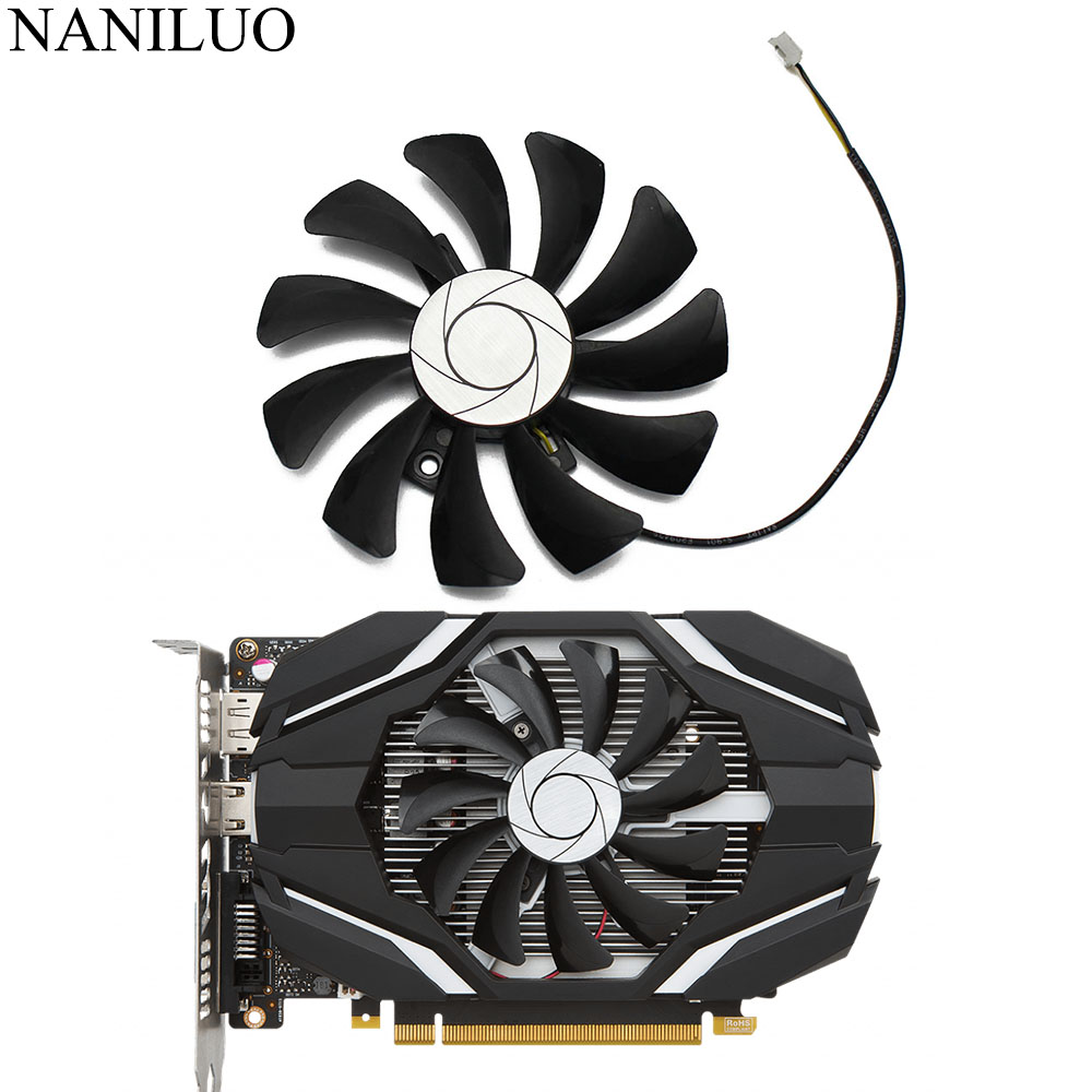 HA9010H12F-Z 85MM 0.57A 2Pin <font><b>GTX1050</b></font> GPU Cooler Fan For MSI Geforce GTX <font><b>1050</b></font> 2G GTX 1050Ti 4G OC Graphic Card Cooling image