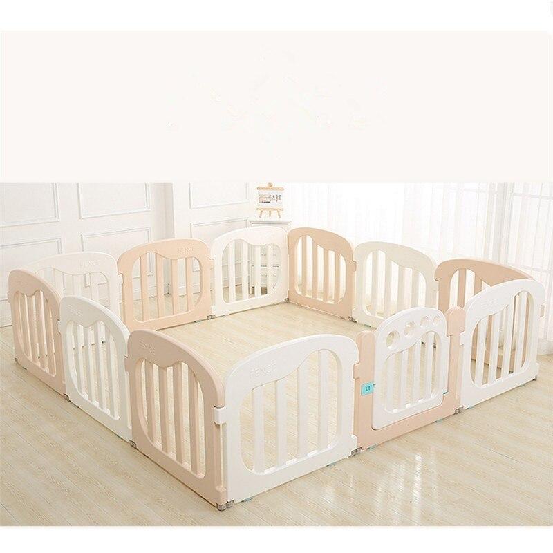 Parc de jeux d'intérieur de barrière de bébé d'enfants environnementaux parc de bébé avec la porte de sécurité pour le plastique naturel de barrière de sécurité d'enfant