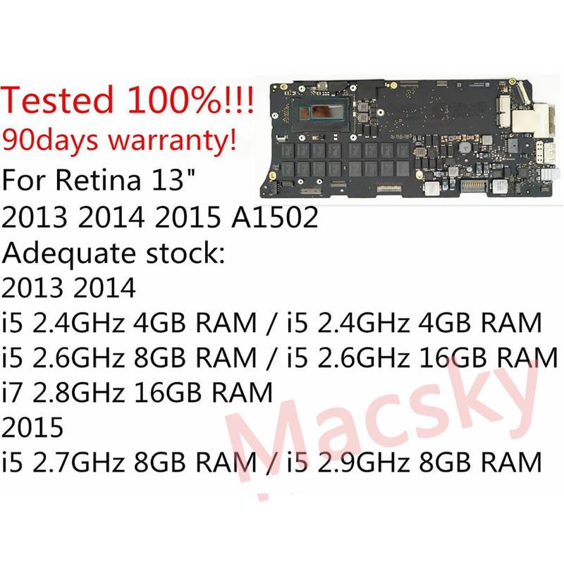 """Orignal i5 2.6 GHz 8 GB i7 2.8 GHz 16 GB Logic Board voor MacBook Pro Retina 13 """"A1502 moederbord 661 8146 820 3476 A 2013 2014-in Laptop LCD Scherm van Computer & Kantoor op AliExpress - 11.11_Dubbel 11Vrijgezellendag 1"""
