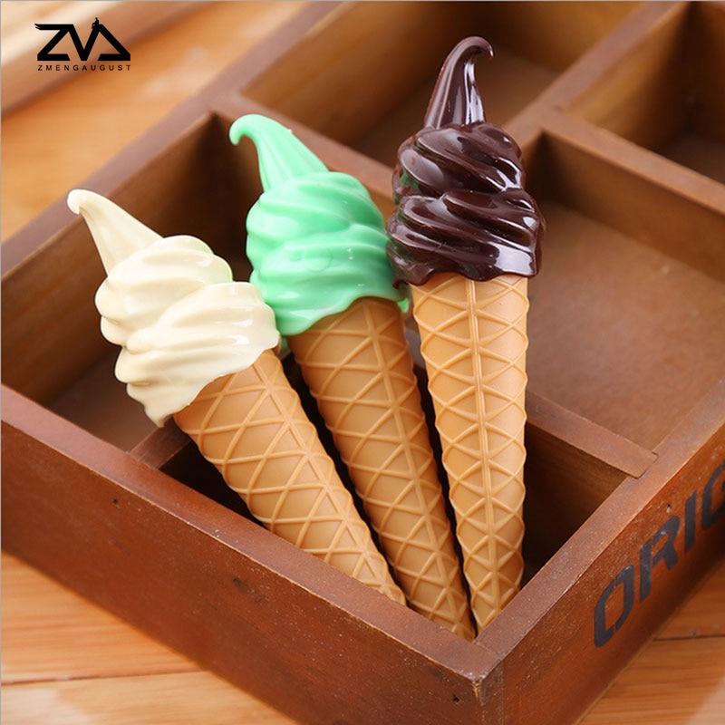 1 pcs Kawaii Ice cream shape Ballpoint Pen For Writing s