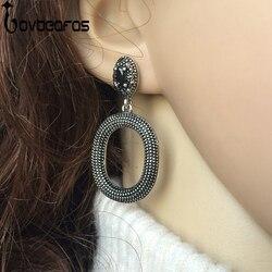 Lovbeafas 2017 earings fashion jewelry bohemian big drop earrings for women black gem ethnic power earrings.jpg 250x250