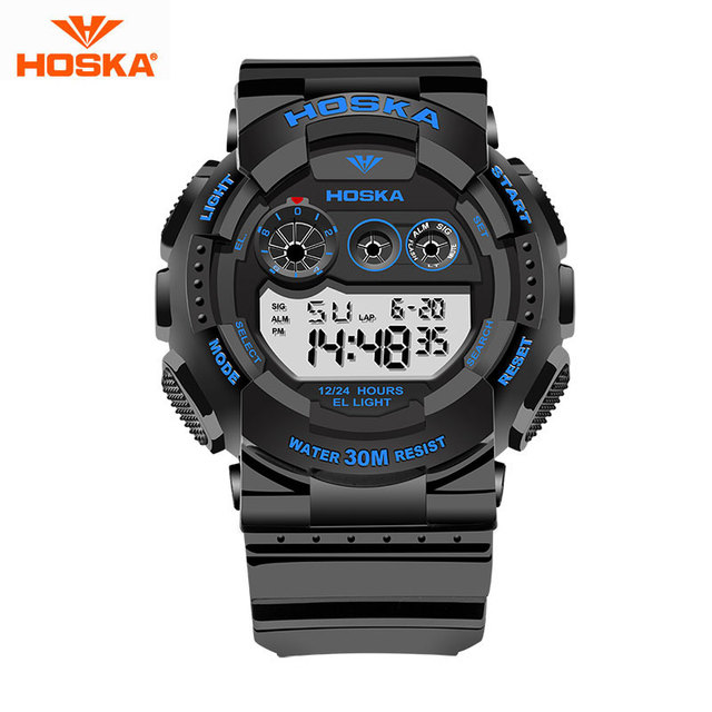HOSKA Marca Digital Watch Men Analog Watch Analógico Digital LED Alarm Data Relógio de Pulso de Quartzo Militar Esportes Ao Ar Livre dos homens H017