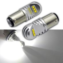 купить 2pcs 30W 1157 P21/5W BAY15D Super Bright 6SMD LED auto brake lights fog lamp 21/5w car daytime running light stop bulbs 12-24V дешево