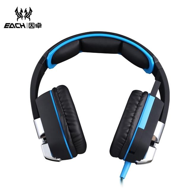 Cada G8200 Super Bass para juegos de auriculares 7.1 Surround USB juego vibración diadema auricular con Mic luz LED para PC Gamer