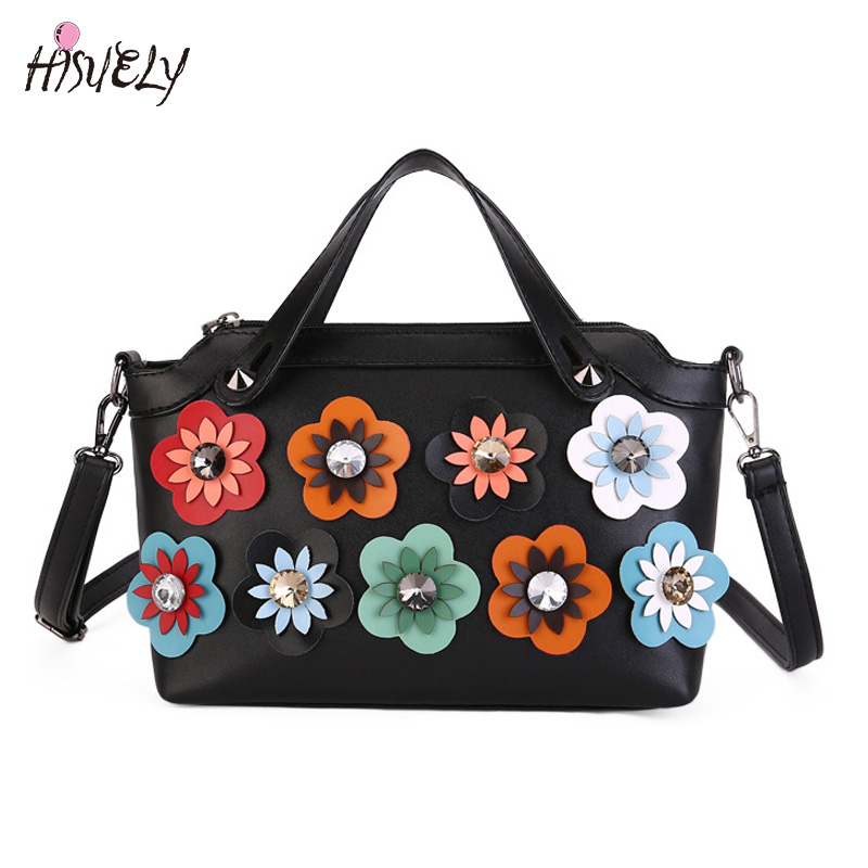 2017 New Fashion Handbag Bag Korean Diamond Flower Boston Women Bag Shoulder Messenger Laptop Bag singles High Quality Hot Sale phil collins singles 4 lp