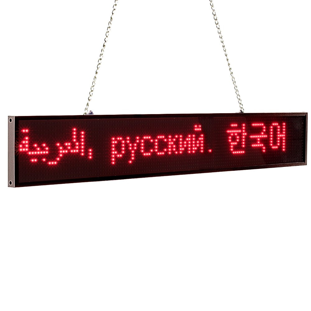 Купить с кэшбэком 66cm P5 RGB Full Color 16*128 pixel Led Sign Android IOS WIFI Remote Programmable Scrolling Message Advertising display board