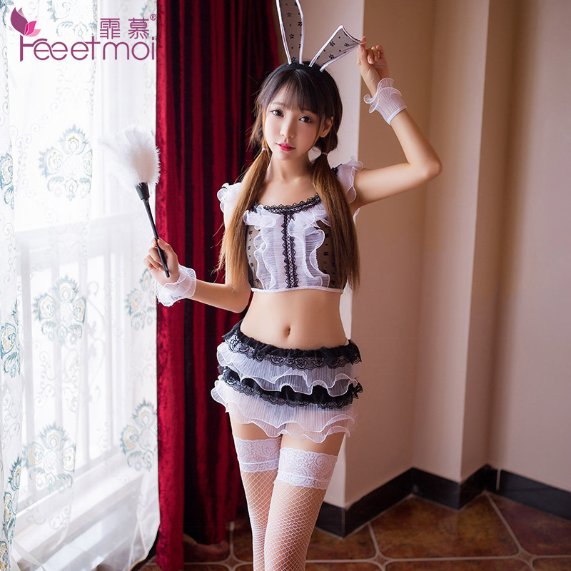 Lovely Rabbit <font><b>Girl</b></font> <font><b>Hot</b></font> Sexy Erotic Lingerie 2018 New Women Cosplay Babydoll Net Cloth Uniforms Temptation <font><b>Sex</b></font> Porn <font><b>Dress</b></font> image