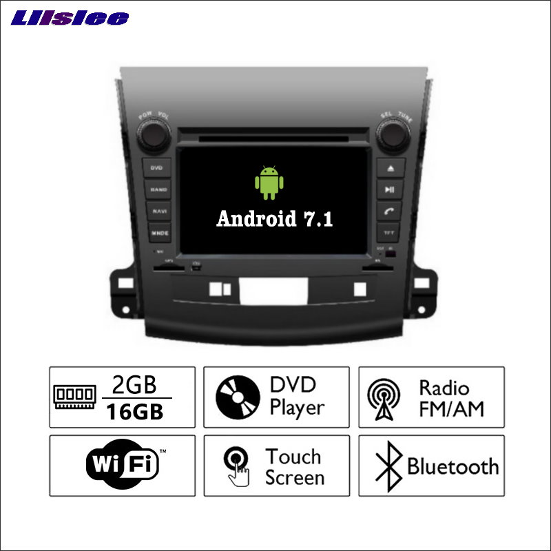 Liislee Android 7.1 2G RAM For Mitsubishi Outlander Car Radio Audio Video Multimedia DVD Player WIFI DVR GPS Navi Navigation liislee android 7 1 2g ram for renault captur kaptur car radio audio video multimedia dvd player wifi dvr gps navi navigation page 7 page 4