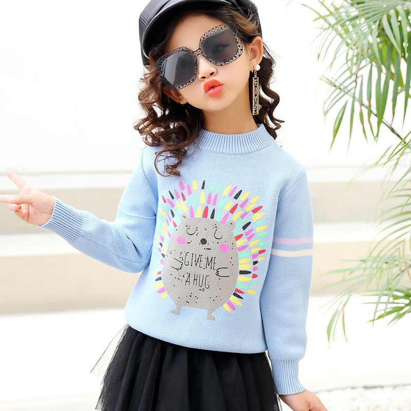גדול בנות סוודרים ילד בגדי סתיו 2018 חורף תינוקת סוודר חמוד סוודר ילדים לילדים בגדי למשוך enfant fille