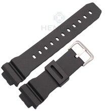 Bracelets 16mm X 26mm Hommes Noir Sport Plongée En Caoutchouc de Silicone Montre Bracelet Bande Pour Casio 6900 Série Montre accessoires