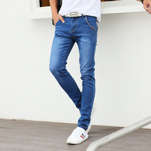 New males's denims slim pants tight denims males.