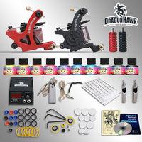 Beginner Tattoo Starter Kits 2 Machines European Dedicated Power Supply 10 SetImmortal Tattoo Inks Tattoo Kit