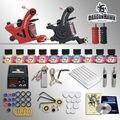Máquinas del tatuaje del principiante kits de iniciación 2 Europea dedicada fuente de alimentación 10 SetImmortal Tintas Del Tatuaje kit de tatuaje profesional