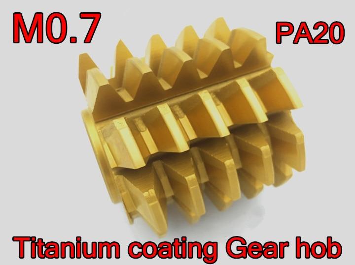 M0 7 modulus 50 40 22mm Inner hole PA 20 degrees HSS Titanium coating Gear hob