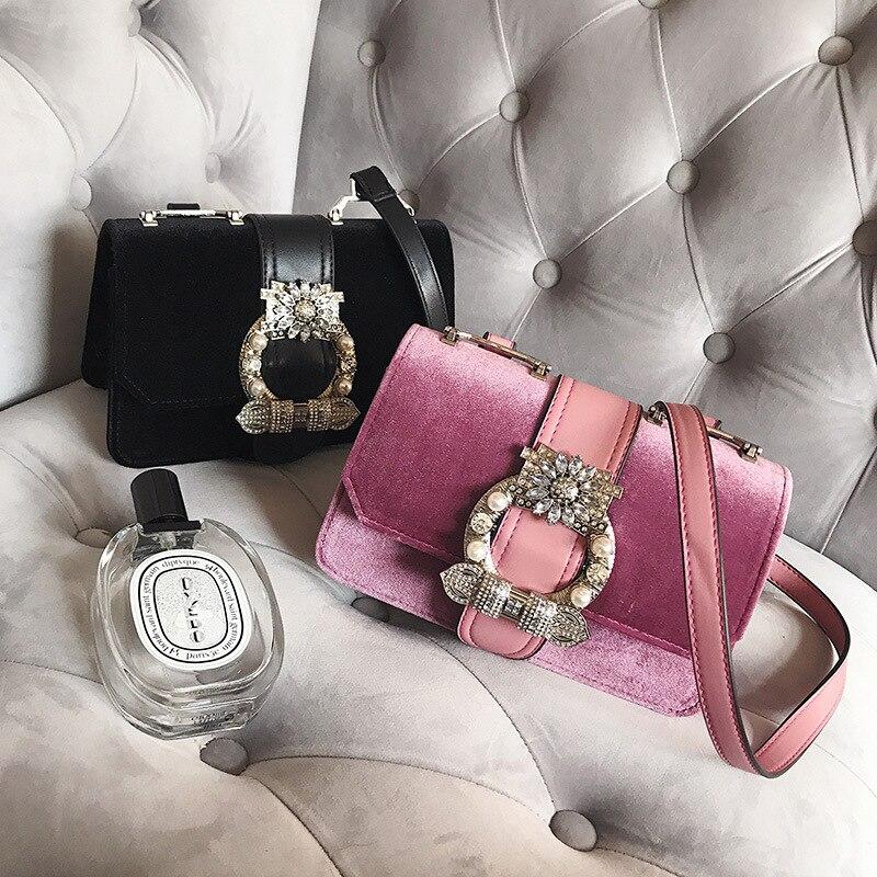Designer Fashion Famous Bags Women Designer Lock Diamonds <font><b>Handbags</b></font> <font><b>Velvet</b></font> Luxury Totes Multifunction brands Shoulder Bag bolsa