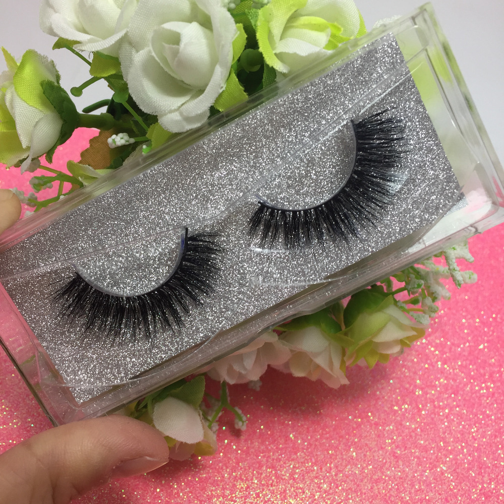 10 pairs /lot 3D Mink Eyelash Real Mink Handmade Crossing Lashes individual Strip Thick Lash Fake Eyelashes
