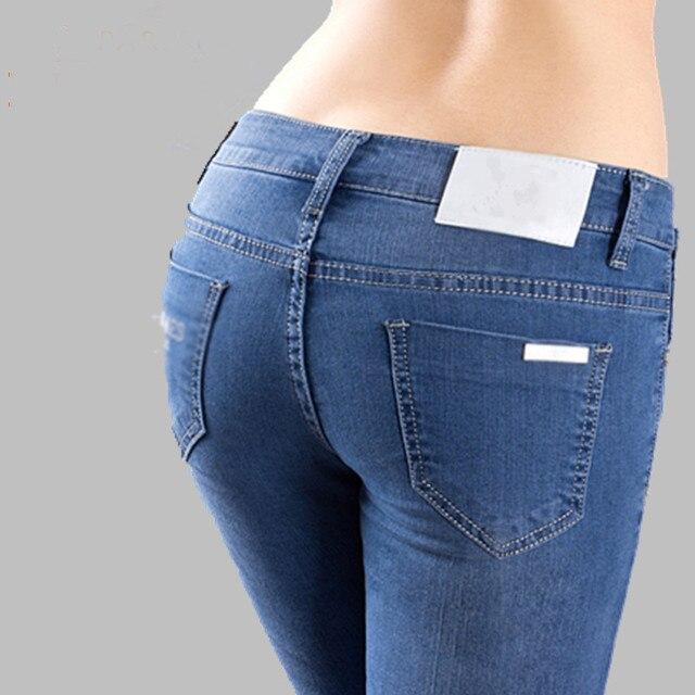 Женские Джинсы Плюс Size26-34 Новые Марка Мода Синий Эластичные Джинсы Женщина Pantalon Femme Sexy Skinny Jeans Брюки для Женщин KZ058