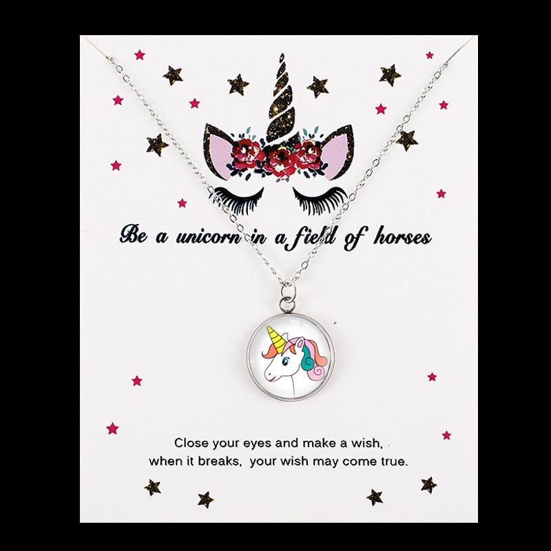 Единорог Лошадь Подвески Ожерелья пчелы с принтом в виде медоносной пчелы, рубашка с изображением фламинго, Русалка 18 мм Стекло кабошон Для женщин, ювелирные изделия для девушек, для вечеринки, дня рождения подарок