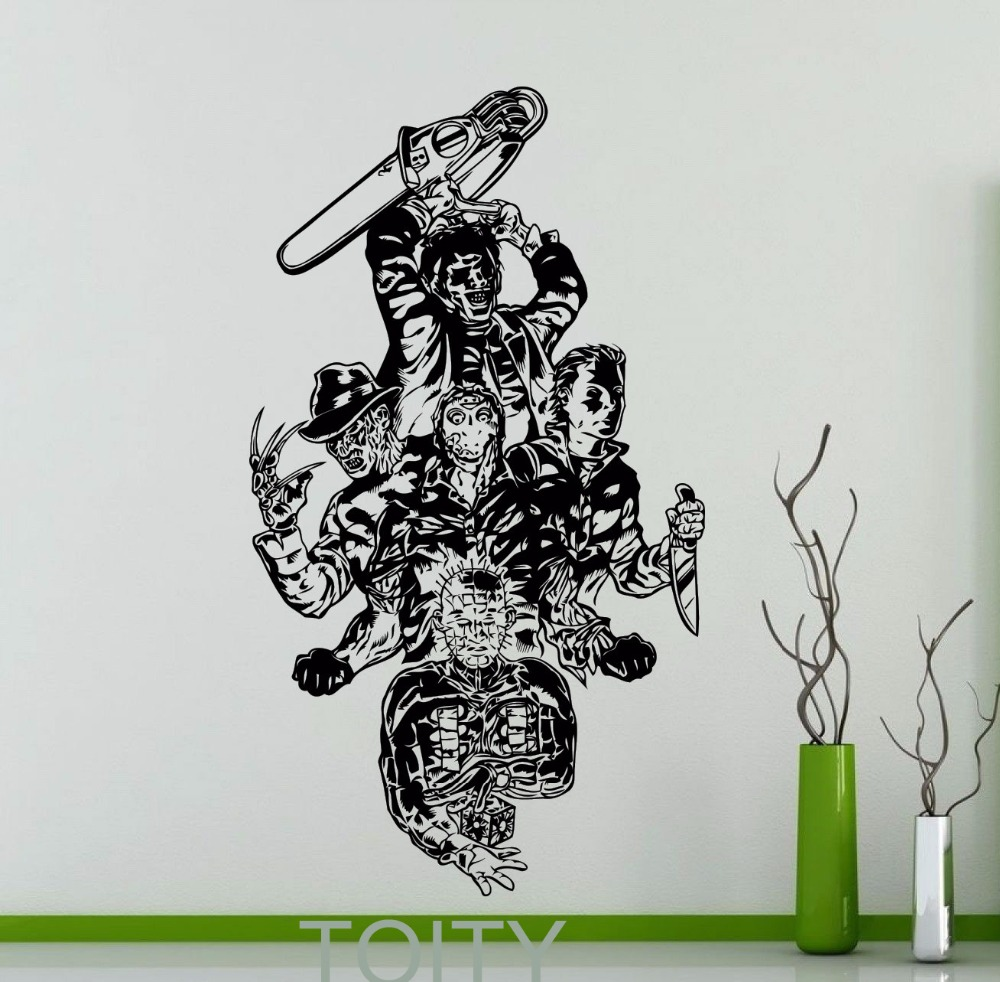 Buy movie maniacs wall sticker freddy for Decal wall art mural