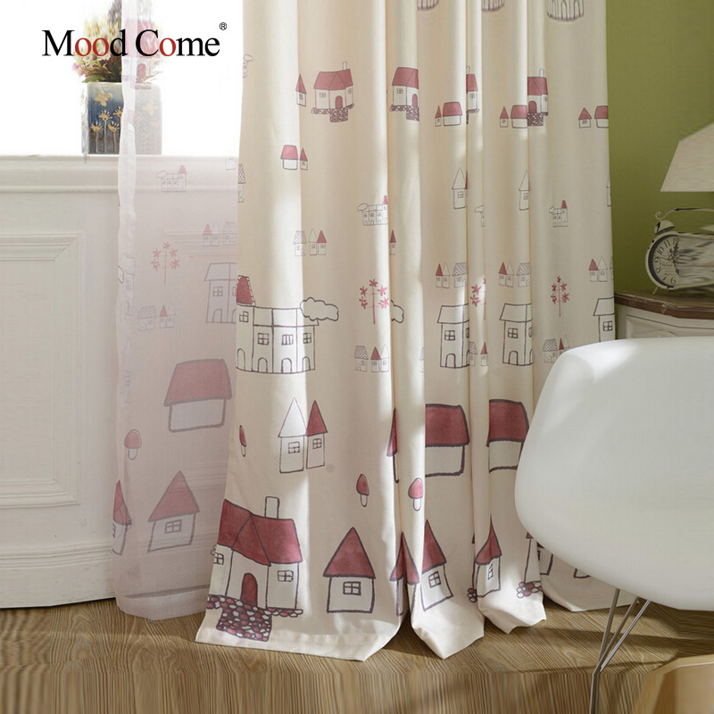 small house children curtains baby room curtains for living room the bedroom blackout curtains for kids - Blackout Shades Baby Room