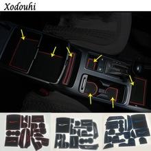 цена на For Kia Sorento 2015 2016 2017 car styling inner Groove Gate Slot Armrest Storage Rubber non-slip mats mat door pad cup 16pcs