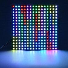 SK6812 16x16 8x32 8x8 WS2812B Панель 256 пикселей светодиодный запрограммирован Панель Экран WS2811 SMD 5050 светодиодный цифровой гибкая адресуемых DC5V