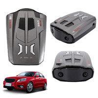 V9 Car Laser Radar Detector 360 Degrees 16 Band LED Display Speed Russia English Voice Alert