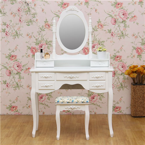Korean Dresser Ikea Simple European Past Modern Vanity Cabinet White Wood Dressing Table