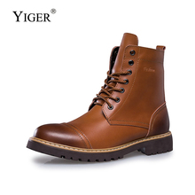 YIGER New Men Martins Boots winter Cotton shoes men Army boots Mens high-top outdoor casual male Lace-up combat 232