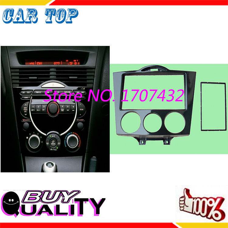 Free Shipping New CT CARID Double Din CD DVD Stereo Audio Panel fascia For MAZDA RX