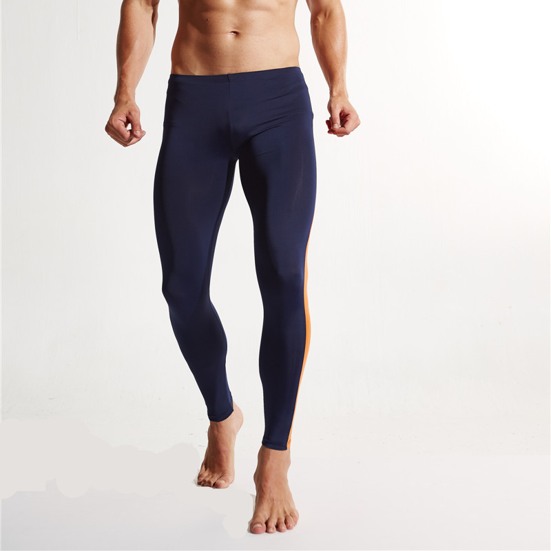 2PCS/LOT Mens Gym Fitness Sport Pants Men Leggings Running Jogging Sportswear Tights Skins Compression Dry Fit Tracksuits E601-2