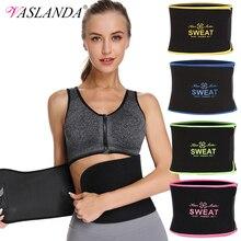 VASLANDA Neoprene Sweat Slimming Belt Waist Girdle Trainer Shapewear Tummy Trimmer Women Body Shaper Fajas Reductoras De Barriga