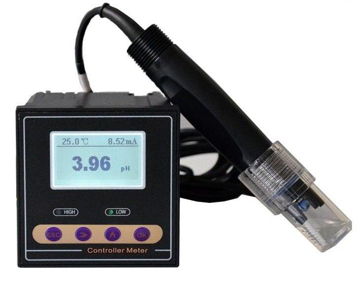 Онлайн промышленных рН ОВП Управление Лер метр монитор точность 0.02pH 1mV верхний и нижний предел Управление реле сигнализации текущего вывод...