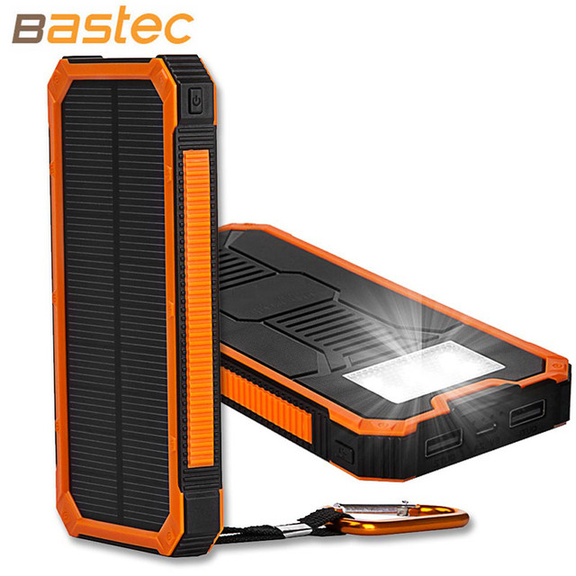 2015 New Fashion Solar Power Bank 10000mAh Portable External backup battery Charger For all mobile phone/pad