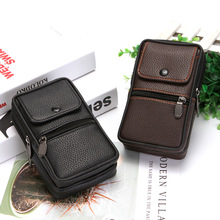 2019 Fashion PU Leather Belt Men Wear Waist Bag Solid Box Multi-function Phone Coin Card High Quality Wallet Fanny